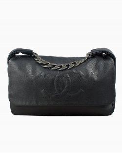 Bolsa Chanel Caviar 31 Flap de Couro Preto
