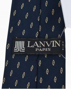 Gravata Lanvin Estampada com fundo Azul Marinho