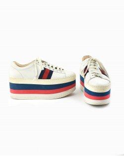 Tênis Gucci Peggy Stripes branco