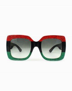 Óculos de sol Gucci quadrado com aplicação GG gg0083s