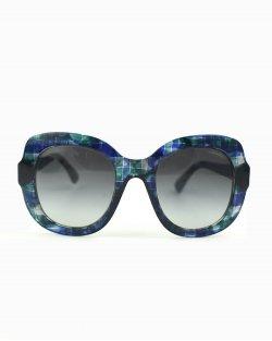 Óculos de sol Chanel azul e verde 71084