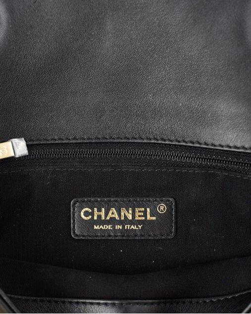 Bolsa Chanel Graphic Accordion de Couro Bicolor