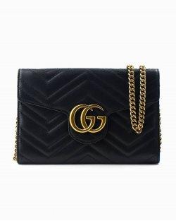 Bolsa Gucci GG Marmont Matelasse Mini de Couro Preto