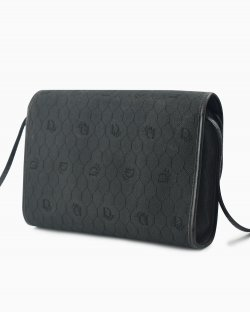 Bolsa Christian Dior vintage honeycomb canvas preta