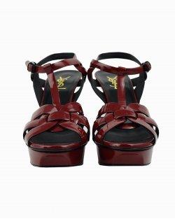 Sandália Saint Laurent Classic vermelha