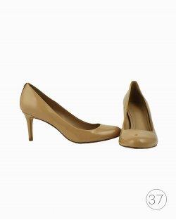 Sapato Tory Burch de Verniz Bege