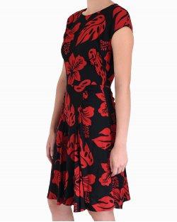 Vestido Prada vintage preto e vermelho