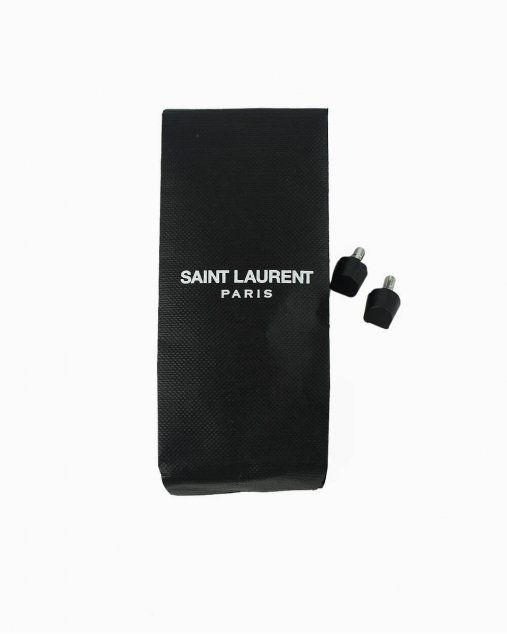 Sapato Saint Laurent  Kiki 55 Amarelo Neon
