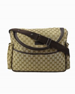 Bolsa Gucci Diaper Bag Monograma Marrom