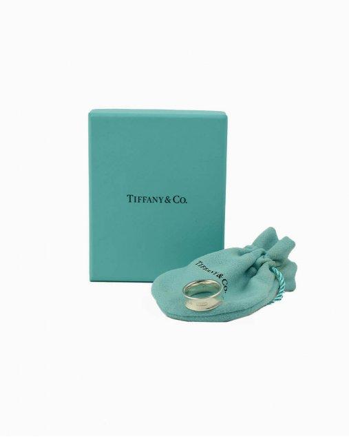 Anel Tiffany & Co. 1837 prata de lei Tam. 12