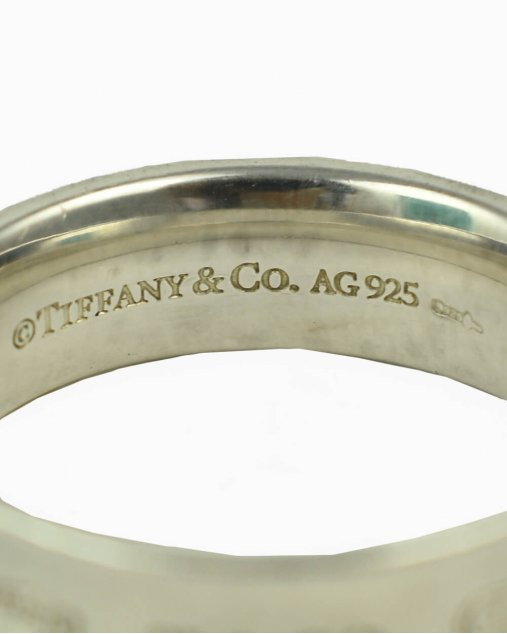 Anel Tiffany & Co. 1837 prata de lei Tam. 21