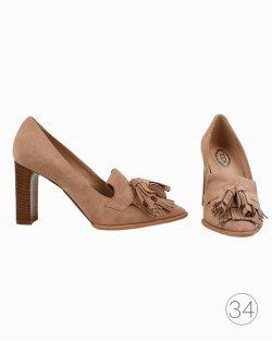 Sapato Tod's de Camurça Rosa
