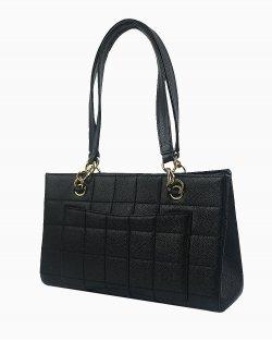 Bolsa Chanel Vintage de Couro Preto