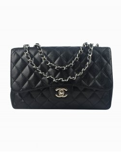 Bolsa Chanel Classic Flap de Couro Preto