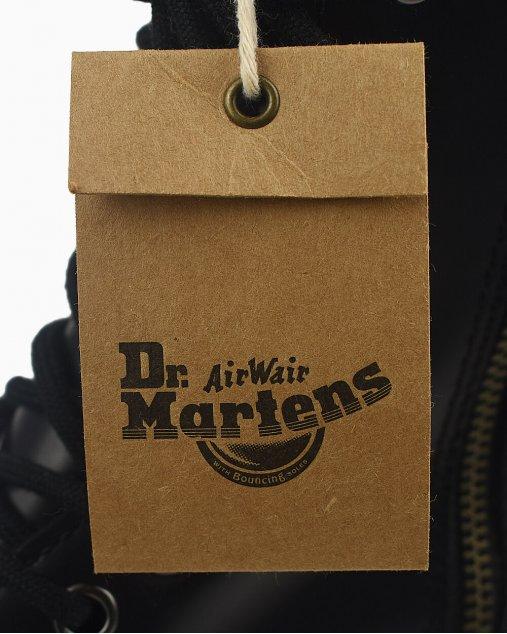 Coturno Dr Martens Jadon de Couro Preto