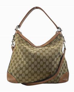 Bolsa Gucci Miss Hobo monograma GG marrom