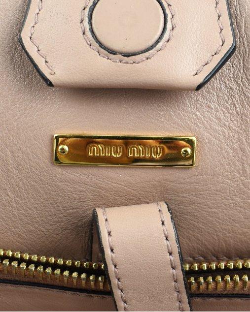 Bolsa Miu Miu Couro rose