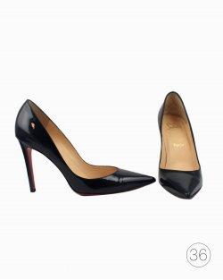 Sapato Louboutin Decolette 554 verniz preto