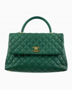 Bolsa Chanel Medium Coco Handle Verde