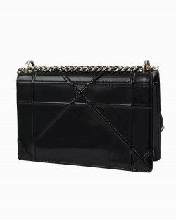 Bolsa Dior Diorama in Patent leather preta
