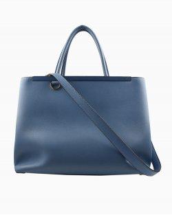 Bolsa Fendi 2 Jours couro azul