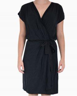 Vestido DVF em seda preto