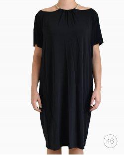 Vestido Versace Jeans com corrente preto