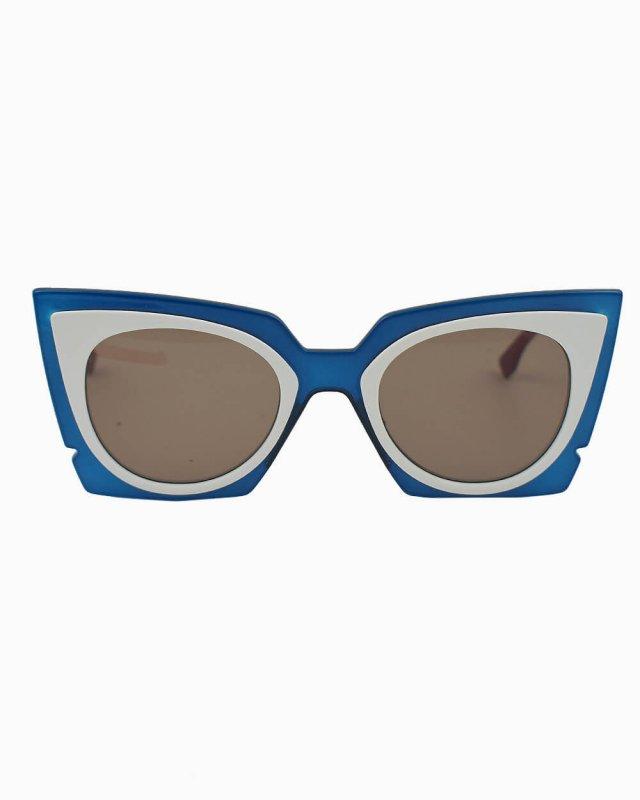 Óculos de sol Fendi Orchidea azul e branco FF 0117/S