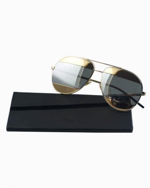 Óculos de sol Dior Split Goldtone dourado e prata 000DC 5914