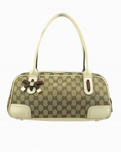 Bolsa GUCCI Monograma Small Princy Satchel Off White