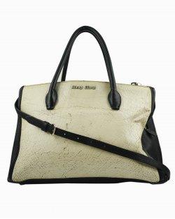 Bolsa Miu Miu Craquele Nero Preto e Branco