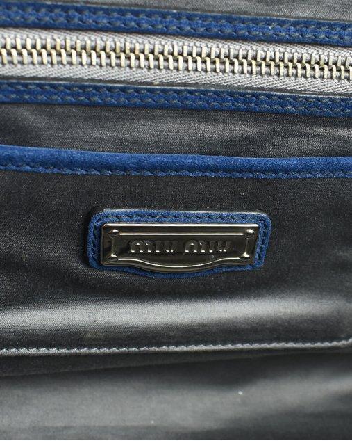 Bolsa Miu Miu Camurça Azul Marinho