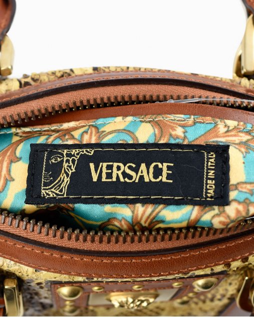 Bolsa Versace Iridescent Python
