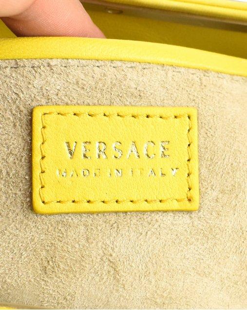Clutch Versace Printed Woven Amarelo