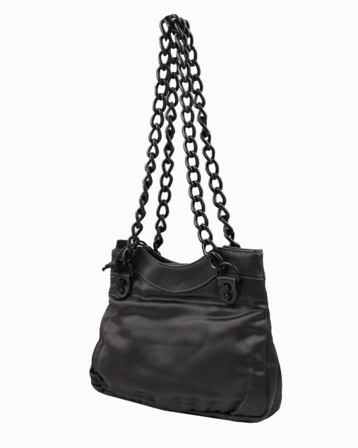 Bolsa Balenciaga Satin Enamel Classique Chain Shoulder Bag Green
