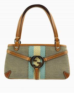 Bolsa Gucci Gucci Jackie Equestrian Look Canvas Shoulder Bag GG Monogram