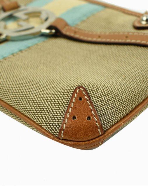 Bolsa Gucci Gucci Jackie Equestrian Look Canvas Shoulder Bag GG Monogram
