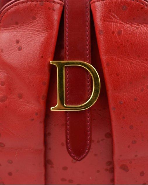 Bolsa Dior Saddle Bowler Cuir Rouge