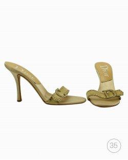 Mule Dior Dourada