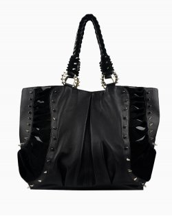Bolsa Christian Louboutin Spike Studded Shopper Stunning Black