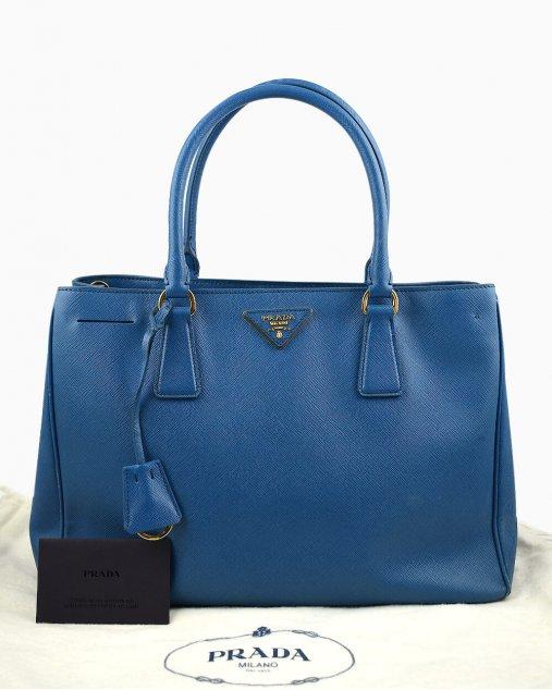 Bolsa Prada Galleria Saffiano Azul