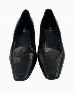 Sapato Prada Vintage em couro preto