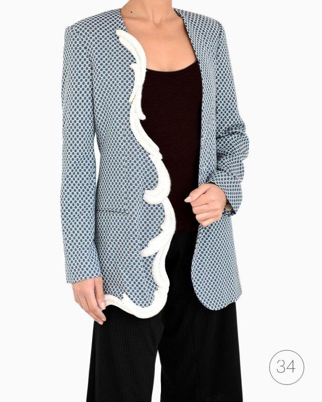 Blazer Stella McCartney arabescos algodão azul