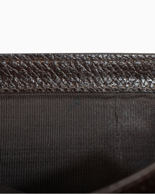 Carteira Gucci Textured Leather Marrom
