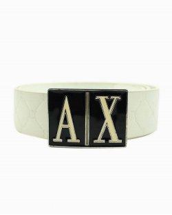 Cinto Armani Exchange couro branco