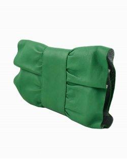 Clutch Furla pochette a fiocco verde
