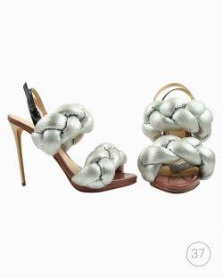 Sapato Marco de Vincenzo tranças prata