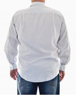 Camisa Social Manga Longa Ermenegildo Zegna Branca Quadriculada