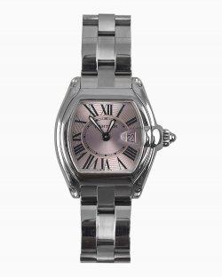Relógio Cartier Roadster Feminino Fundo Rose