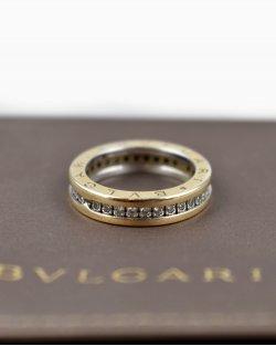 Anel Bvlgari Cravejado Em Diamante